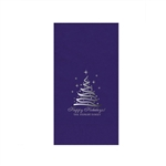 "Printed Guest Towel Napkins - Purple - 4-1/4"" x 8-1/2"""