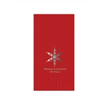 "Holiday Printed Guest Towel Napkins - Red - 4-1/4"" x 8-1/2"""