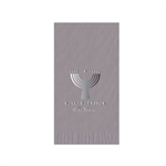 "Holiday Printed Guest Towel Napkins - Silver - 4-1/4"" x 8-1/2"""