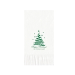 "Holiday Printed Guest Towel Napkins - White - 4-1/4"" x 8-1/2"""