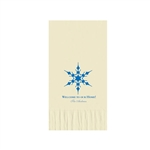 "Holiday Printed Guest Towel Napkins - Warm White - 4-1/4"" x 8-1/2"""