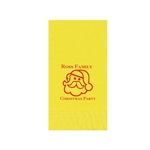 "Printed Guest Towel Napkins - Yellow - 4-1/4"" x 8-1/2"""