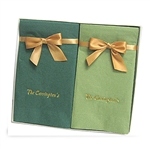 Personalized Guest Towel Napkin Hostess Gift Sets