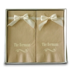 Personalized Recycled Guest Towel Napkin Hostess Gift Sets