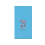 Printed Guest Towel Napkins - Bermuda Blue - Anniversaries, Bar Mitzvah & Parties