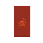 Printed Guest Towel Napkins - Brick - Anniversaries, Bar Mitzvah & Parties