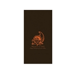 Printed Guest Towel Napkins - Chocolate - Anniversaries, Bar Mitzvah & Parties