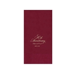 Printed Guest Towel Napkins - Cranberry - Anniversaries, Bar Mitzvah & Parties