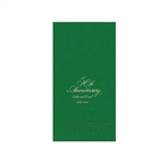 Printed Guest Towel Napkins - Emerald - Anniversaries, Bar Mitzvah & Parties