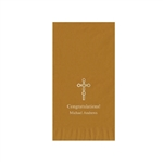 Printed Guest Towel Napkins - Gold - Anniversaries, Bar Mitzvah & Parties