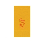 Printed Guest Towel Napkins - Harvest Gold - Anniversaries, Bar Mitzvah & Parties