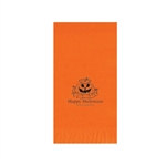 Printed Guest Towel Napkins - Orange - Anniversaries, Bar Mitzvah & Parties