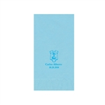 Printed Guest Towel Napkins - Pastel Blue - Anniversaries, Bar Mitzvah & Parties