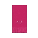 Printed Guest Towel Napkins - Raspberry - Anniversaries, Bar Mitzvah & Parties