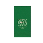 "Wedding Printed Guest Towel Napkins - Emerald - 4-1/4"" x 8-1/2"""