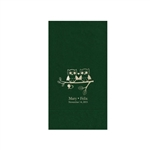 "Wedding Printed Guest Towel Napkins - Evergreen - 4-1/4"" x 8-1/2"""