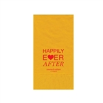 "Wedding Printed Guest Towel Napkins - Harvest Gold - 4-1/4"" x 8-1/2"""