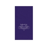 "Wedding Printed Guest Towel Napkins - Purple - 4-1/4"" x 8-1/2"""