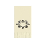 "Wedding Printed Guest Towel Napkins - Warm White - 4-1/4"" x 8-1/2"""