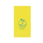 "Wedding Printed Guest Towel Napkins - Primrose Yellow - 4-1/4"" x 8-1/2"""