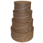 Rigid Nested Hat Boxes-Natural Kraft
