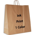 1 Color Ink-Printed Hippo Kraft Paper Shopping Bag