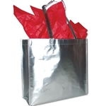 "Heavy Metal Reusable Bags Silver 15-1/2"" x 14-1/4"" x 6"""