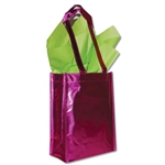 "Heavy Metal Reusable Bags Fuchsia 9"" x 12"" x 5"""