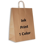 1 Color Ink-Printed Impala Kraft Paper Shopping Bag