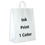 1 Color Ink-Printed Impala White Kraft Paper Shopping Bag