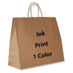 1 Color Ink-Printed Jaguar Kraft Paper Shopping Bag