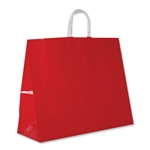 "Red Gloss Paper Shopping Bags Jaguar: 16"" x 6"" x 13"" - 250 Bags/Case"