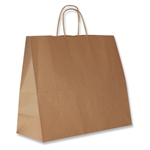 "Jaguar 100% Recycled Kraft Paper Shopping Bags: 16"" x 6"" x 13"" - 250 Bags/Case"