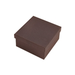 "Brown Kraft 3.5"" x 3.5"" x 2"" Jewelry Boxes"