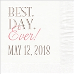 Best Day Ever Design Wedding Luncheon Napkins