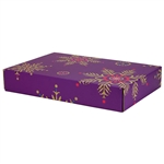 Large Purple Snowflakes Patterned Shipping Boxes - 24 Pack