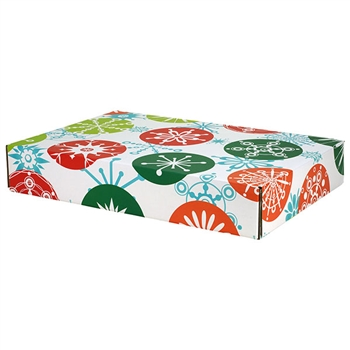 Large Grand Snowflakes Patterned Shipping Boxes - 24 Pack