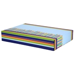 Large Birthday Candles Patterned Shipping Boxes - 48 Pack