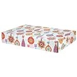 Large Christmas Ornaments Patterned Shipping Boxes - 48 Pack