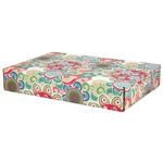 Large Hipster Patterned Shipping Boxes - 6 Pack