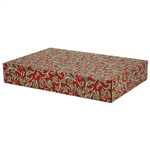 Large Christmas Holly Patterned Shipping Boxes - 6 Pack