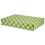 Large Simple Plaid Patterned Shipping Boxes - 6 Pack