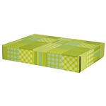 Large Preppy Plaid Patterned Shipping Boxes - 6 Pack