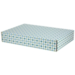 Large Retro Patterned Shipping Boxes - 6 Pack