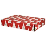 Large Holiday Trees Patterned Shipping Boxes - 6 Pack