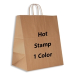 1 Color Hot Stamped Lion Kraft Paper Shopping Bag