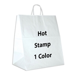 1 Color Hot Stamped Take Out Paper Shopping Bag