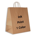 1 Color Ink-Printed Lion Kraft Paper Shopping Bag