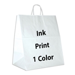 1 Color Ink-Printed Take Out Paper Shopping Bag