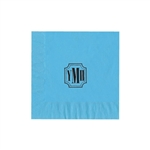 "Personalized Monogram Luncheon Napkins - Bermuda Blue - 6-3/4"" x 6-3/4"" - 50 or 100/pack"